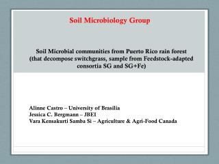 Soil Microbiology Group