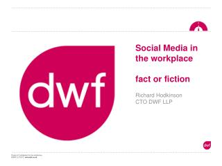 Social Media in the workplace fact or fiction