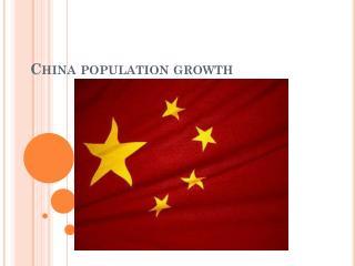 China population growth