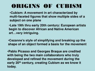 ORIGINS  OF  CUBISM