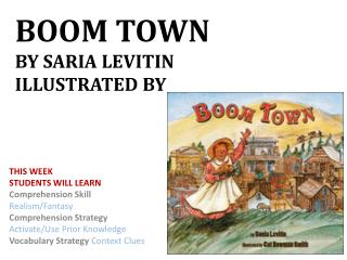 Boom  TowN BY SARIA  Levitin illustrated By