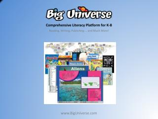 Comprehensive Literacy  Platform for K-8 Reading, Writing, Publishing … and Much More!