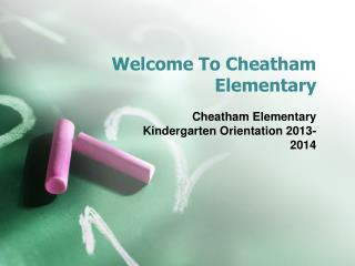 Welcome To Cheatham Elementary