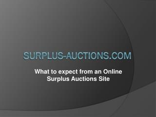 Website for Industrial Auction