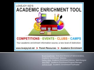 Why Academic Enrichment?