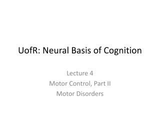 UofR : Neural Basis of Cognition