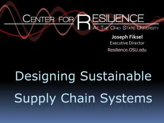 Designing Sustainable  Supply Chain Systems