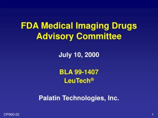 FDA Medical Imaging Drugs Advisory Committee
