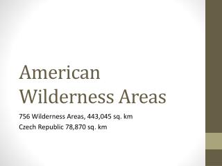 American Wilderness Areas