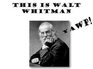 This is Walt Whitman