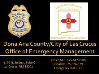 Dona Ana County/City of Las Cruces Office of Emergency Management