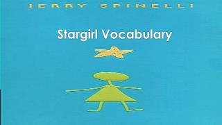 Stargirl  Vocabulary