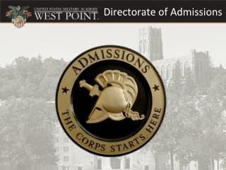 Directorate of Admissions