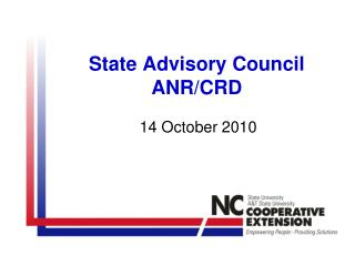 State Advisory Council ANR/CRD