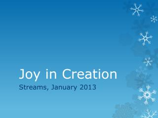 Joy in Creation