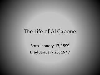 an introduction to the life of al capone Al capone is america's best known gangster and the single greatest symbol of the collapse of law and order in the attempts on capone's life were never.