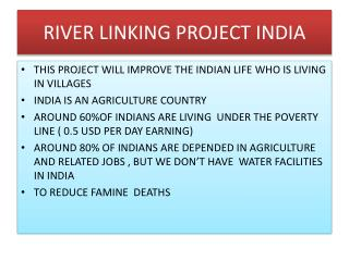 RIVER LINKING PROJECT INDIA
