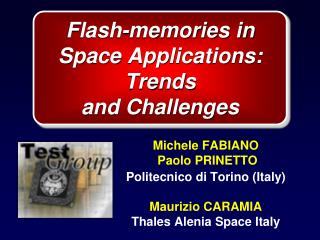 Flash-memories in Space Applications: Trends and Challenges