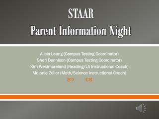 STAAR  Parent Information Night