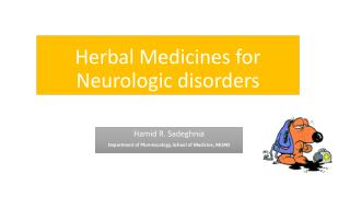 Herbal Medicines for Neurologic disorders