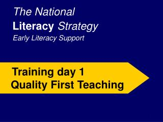 The National Literacy Strategy Early Literacy Support