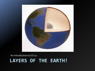 LAYERS OF THE EARTH!
