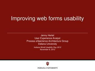 Improving web forms usability