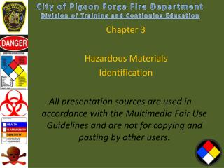 Chapter  3 Hazardous Materials  Identification