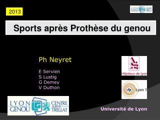 Ph  Neyret E  Servien S  Lustig G Demey V  D uthon Universit é  de Lyon