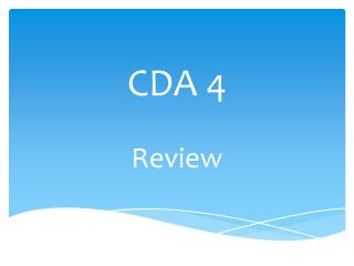 CDA 4