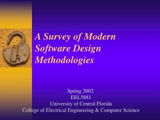 A Survey of Modern Software Design Methodologies