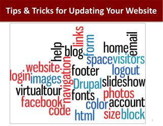 Tips & Tricks for Updating Your Website