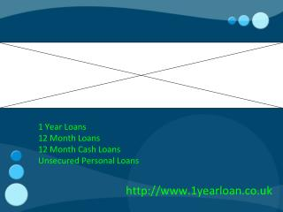 1 Year Loans- 12 Month Cash Loans- Unsecured Personal Loans