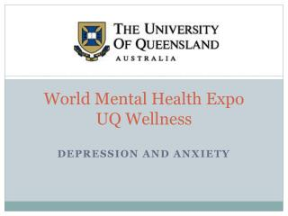 World Mental Health Expo UQ Wellness
