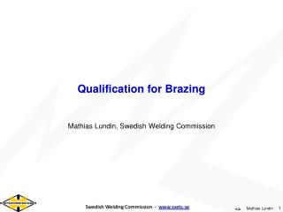 Qualification  for  Brazing
