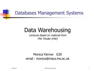 Databases Management Systems