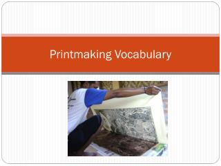 Printmaking Vocabulary