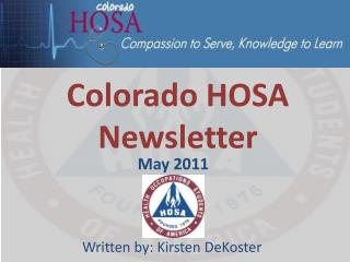 Colorado HOSA Newsletter