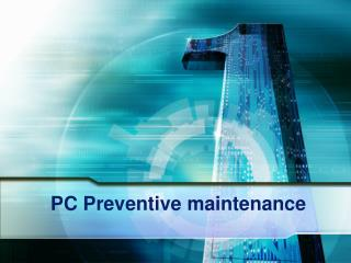 PC Preventive maintenance
