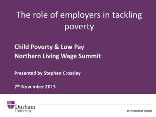 The role of employers in tackling poverty
