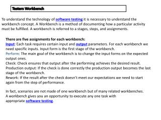 There are five assignments for each workbench: