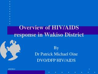 Overview of HIV/AIDS response in Wakiso District