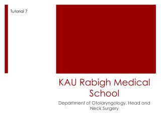 KAU  Rabigh  Medical School