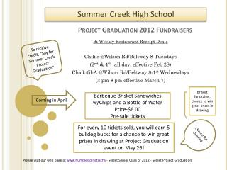 Project Graduation 2012 Fundraisers