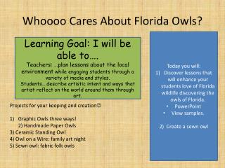 Whoooo  Cares About Florida Owls?