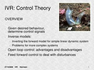 IVR: Control Theory