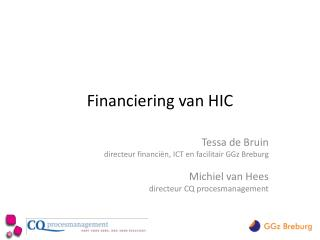 Financiering van HIC