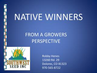 NATIVE WINNERS