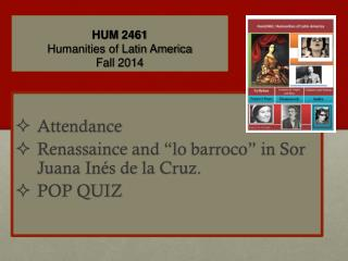 HUM  2461 Humanities of Latin America Fall 2014