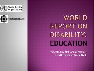 World Report on disability:  education